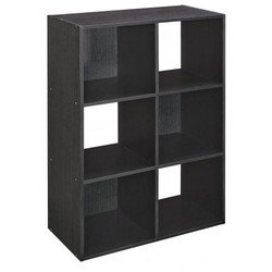 ClosetMaid Cubeicals 6-Cube Organizer Shelf - Black Ash
