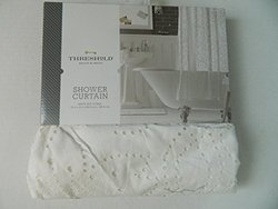 """Threshold Floral Shower Curtain - Winter White - Size: 72""""x 72"""""""