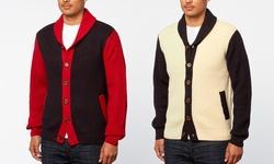 Xray Jeans Shawl-collar Cardigan: Navy/3xl