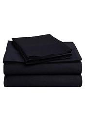 Impressions 4-Piece 425 TC Cotton Sheet Set - Navy - Size: Queen