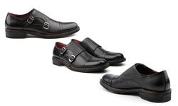 The Mock Monk Strap Shoe - Black - Size: 8