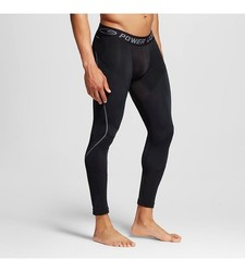 C9 Champion Men's Long Compression Tights - Ebony - Size: Small