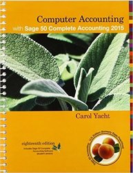 Carol Yacht Sage 50 Complete Accounting Student Spiral Bound