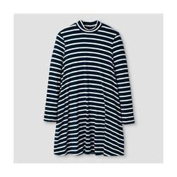 Xhilaration Girl's Knit Dress - Blue Stripe - Size: S