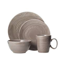 Threshold Kennet 16 Piece Dinnerware Set - Charcoal Heather