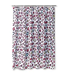 Sabrina Soto Leopards Shower Curtain - Purple/White