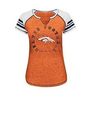 VF LSG NFL Denver Broncos Women's T-Shirt - O Blurry/White/Navy - Size: S