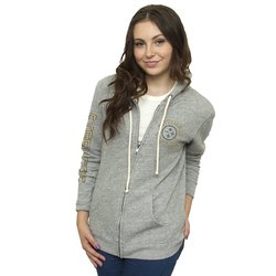Junk Food NFL Women's Full Zip Sunday Hoodie - Medium Heather - Size: XL