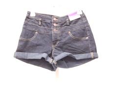 Women's High Rise Shorts - Blue - Size: 6