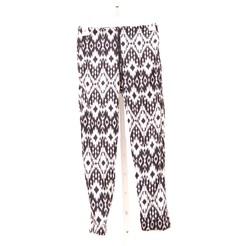 Girls Kids Aztec Print Pants - Black/White - Size: Small