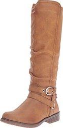 Xoxo Marvina Knee High Riding Boots: Tan - 7