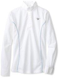 TuffRider Ladies Kirby L/S Show Shirt XL Blue Blue