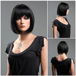 (WG-S1325-1) ROXY DISPLAY  Female Short Hair Wig. Dark Color.