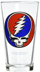 ICUP Grateful Dead Stealie Pint Glass, Clear