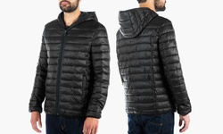 Kenneth Cole Men's Packable Puffer Jacket - Black - Size: Large