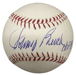 Autographed Mlb Baseballs: Johnny Bench