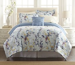 Printed Reversible Complete Bed Set: Lucia/queen (8-piece)