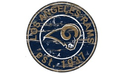 Fan Creations NFL Los Angeles Rams Round Distressed Sign