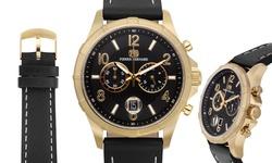 Pierre Bernard Arcturian Chronograph Men's Watch - Black