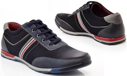 Henry Ferrera Men's Lace-Up Fashion Sneakers - Navy - Size: 10.5