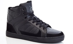 BMX Men's Lace-Up High-Top Sneakers - Black - Size: 9