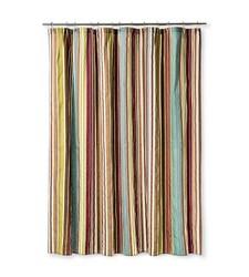 "Bedeck 1951 Ila Striped Shower Curtain - Multi - Size: 72"" x 72"""