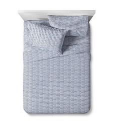 Pillowfort Primitive Prints Sheet 4 Pc Set - Gray - Size: Full
