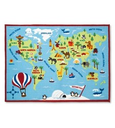 "Pillowfort Activity World Map Area Rug - Multicolor - Size: 40"" x 54"""