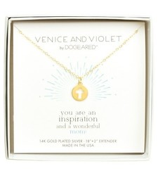 Dogeared 14K Gold Women's Venice & Violet Cross Disc Necklace Plated