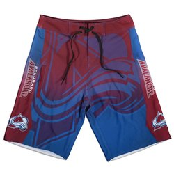 KLEW Men's NHL Colorado Avalanche Gradient Board Shorts - Blue - Size: L