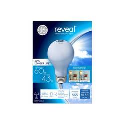 General Electric Reveal 60 Watt Halogen Light Bulb 4 Pack