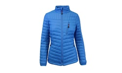 Spire by Galaxy Women's Packable Puffer Jacket - Blue - Size: Large