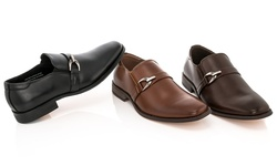 Franco Vanucci Men's Dress Shoes Slip-on: Brown/9.5