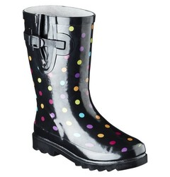 Western Chief Girl's Molly Rain Boot - Black - Size: 1
