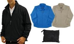 Lightweight Packable Rain Jacket: Black/3xl