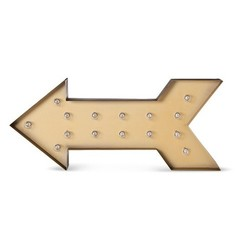 Threshold - Metal Marquee Large - Arrow - Brass