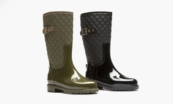 Sociology Quilted Rainboot Katelyn: Black/6