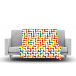 "Kess InHouse Empire Ruhl ""Rainbow Houndstooth"" Blanket"