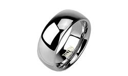 Spikes Men's Tungsten & Titanium Wedding Band - Size: 8mm-13