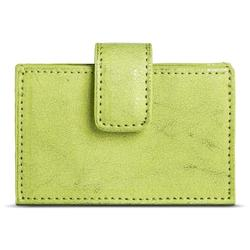 Merona Women's Metallic Faux Leather Slim Fit Card Holder Wallet - Green