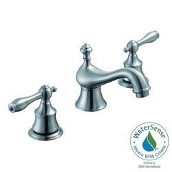 """Estates 8"""" Widespread 2-Handle High-Arc Bathroom Faucet - Brushed Nickel"""