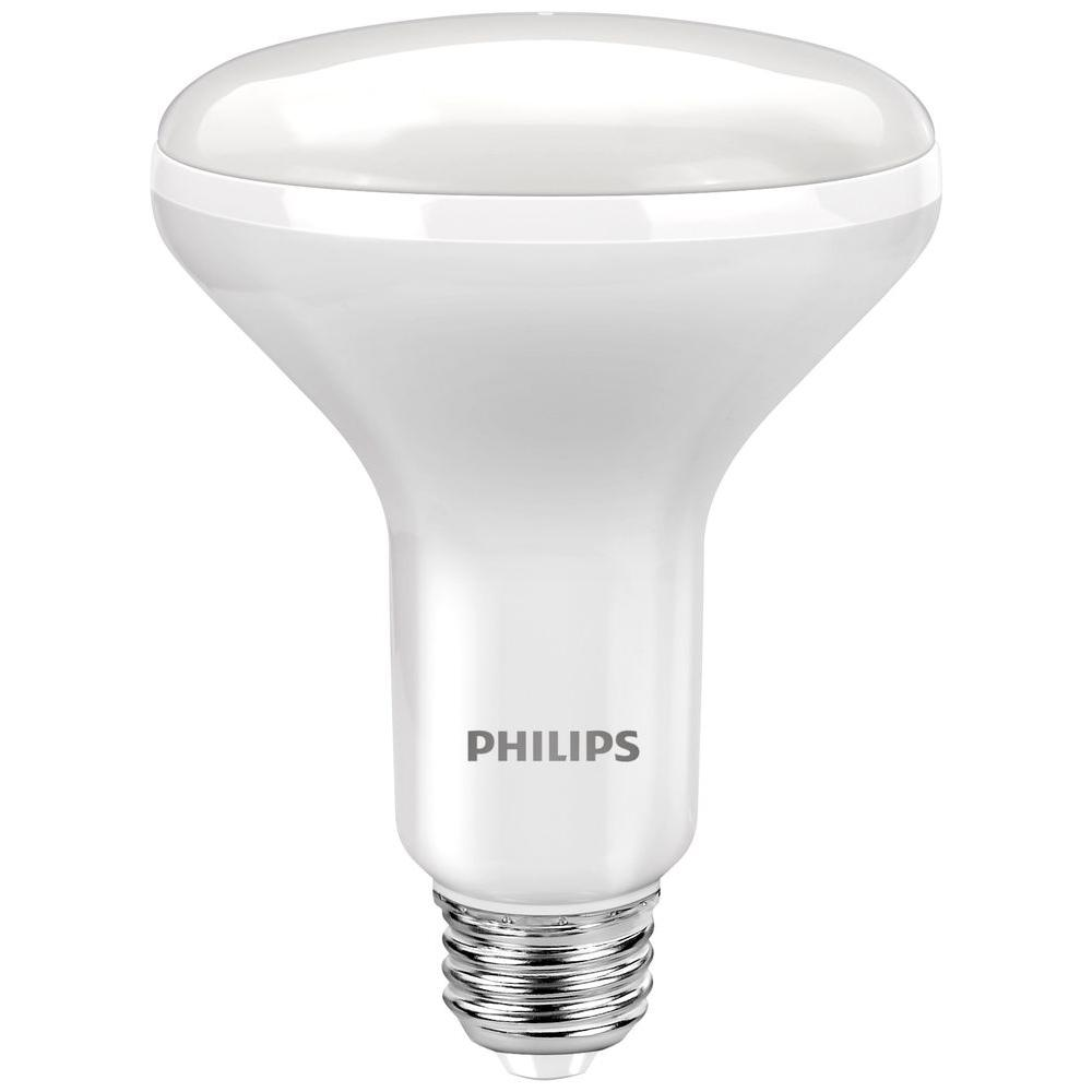 Philips 65W Equivalent White BR30 Dimmable Flood LED Light Bulb