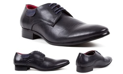 Royal Men's Plain Toe Oxford Shoes - Navy - SIze: 11
