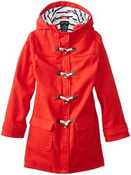 Nautica Big Girls' Faux Wool Swing Coat with Toggles - Dark Red - Size: 12