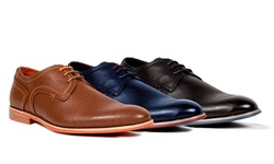 Tonys Casuals Plain Toe Derby Shoes: Navy/10.5