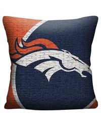 "Northwest NFL 20""x20"" Denver Broncos Woven Pillow - Multi"