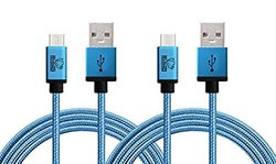Rhino Cables: Micro Usb Cable For Samsung, Nexus, Lg, Motorola/2-pack/6.6 Ft./coral Blue