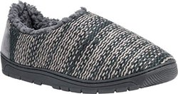 Muk Luks Men's John Slippers: Dark Grey / Large