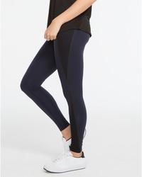 Spanx Women's Every Wear Mesh Contour Leggings - Lapis Night - Sz: Medium