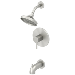 Jacuzzi Duncan Brushed Nickel PVD 1-Handle WaterSense Tub & Shower Faucet